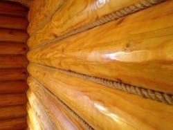 покраска деревянных стен 4