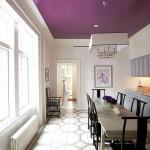 потолочный плинтус в цвет стен