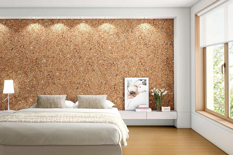 пробковое покрытие для стен спальни