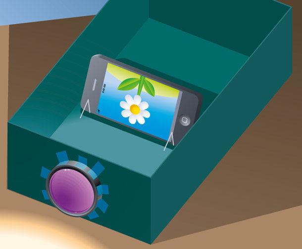 Проектор из смартфона