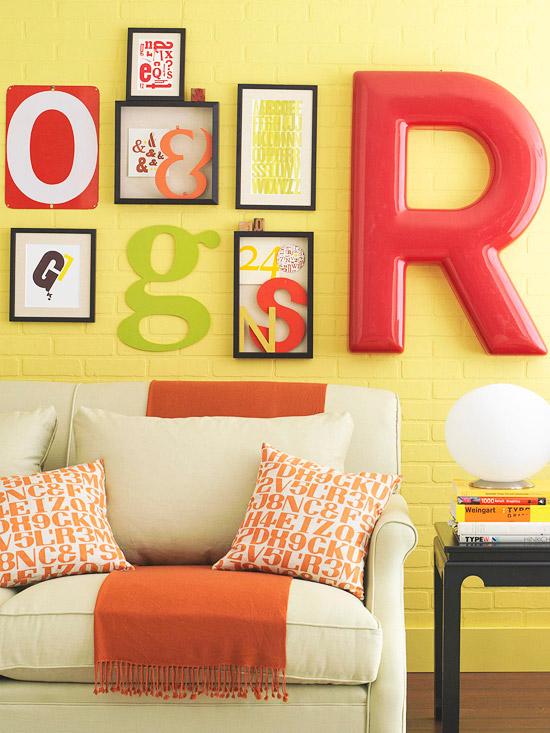 Большие объемные буквы для украшения стены