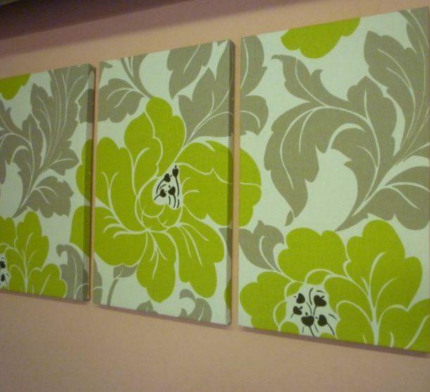 Тканевые картины для декора стен