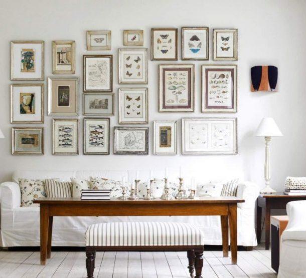Несколько картин на стене