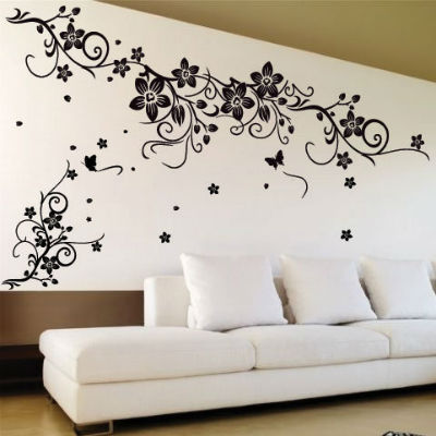 Виниловые наклейки в форме узора на стене
