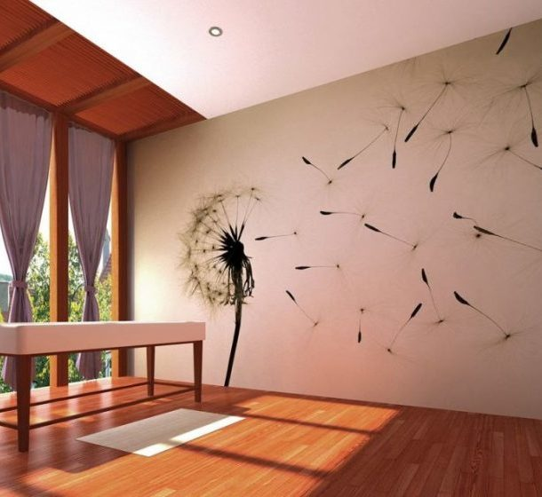 Рисунок на стене красками по штукатурке