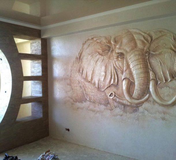 объемный рисунок на пустой стене