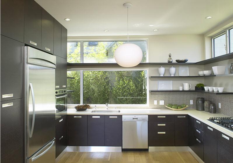 расположение холодильника на кухне