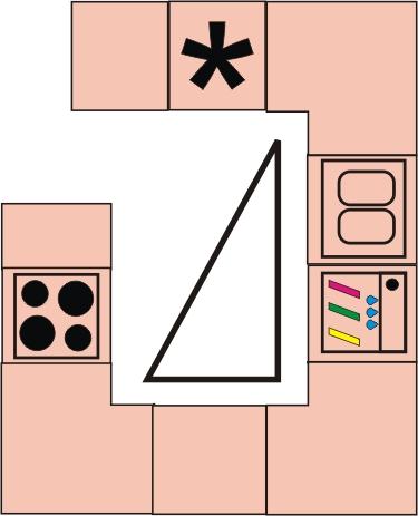 расположение мебели в кухне g-образное