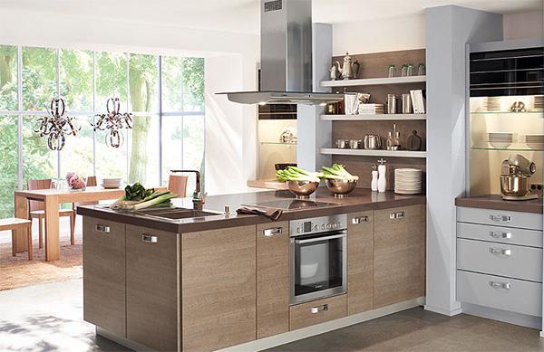 расположение мебели в кухне с полуостровом