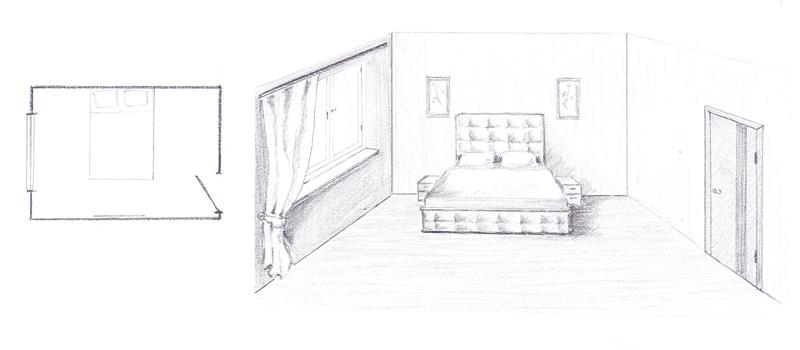 расположить кровать в спальне 2
