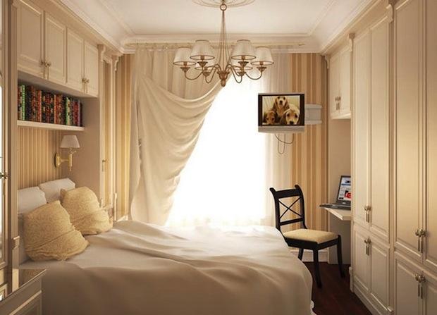 расположить мебель в маленькой спальне 3