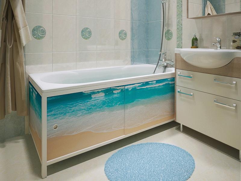 раздвижной экран под ванну 2