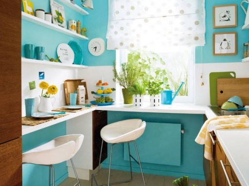 разместить мебель в маленькой кухне 2