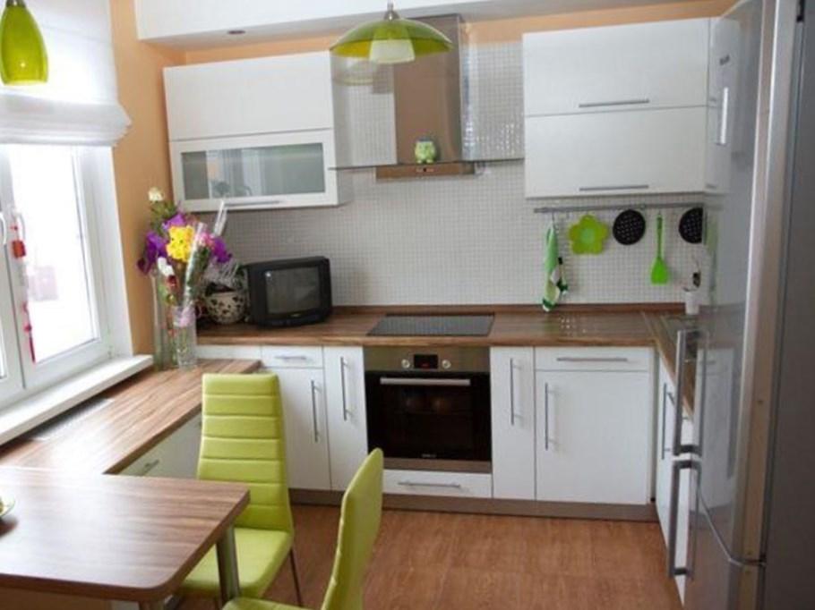 разместить мебель в маленькой кухне 3
