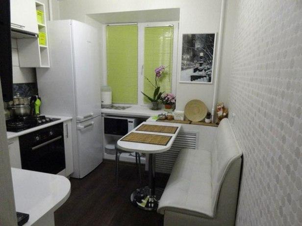 разместить мебель в маленькой кухне