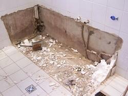 ремонт ванной комнаты демонтаж 3