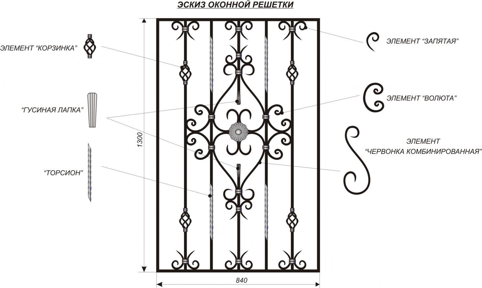 решетка на окна дизайн 2