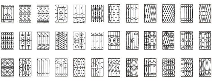 решетка на окна дизайн