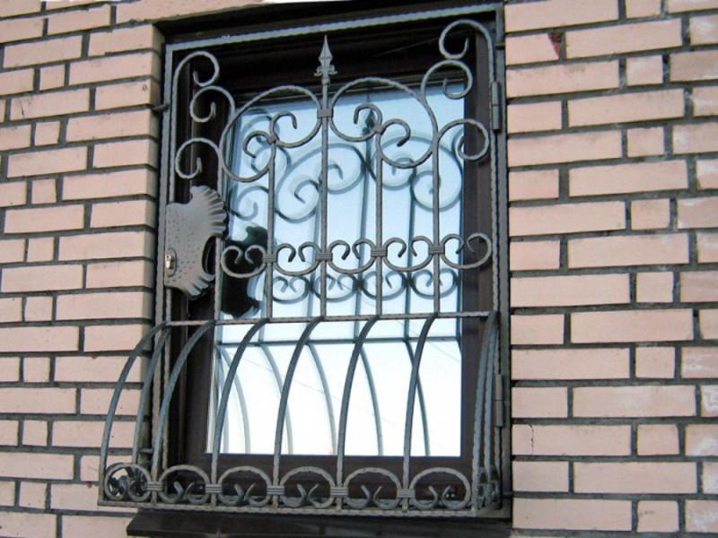 решетка в торцы окна