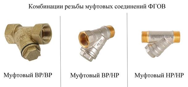Комбинация резьбы муфтовых соединений ФГОФ