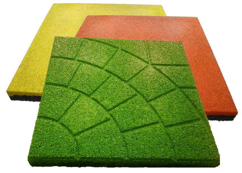 резиновая плитка преимущества