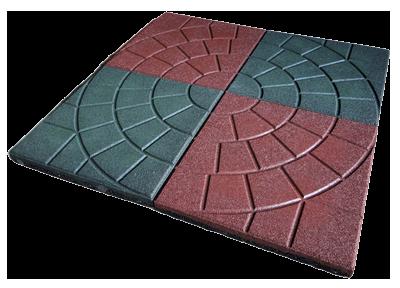 резиновая плитка формы 3