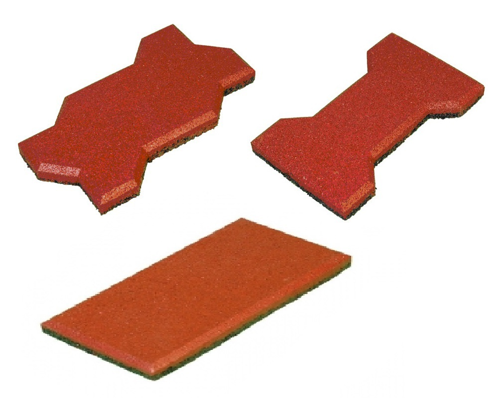 Резиновая плитки для дорожек, дачи и детских площадок