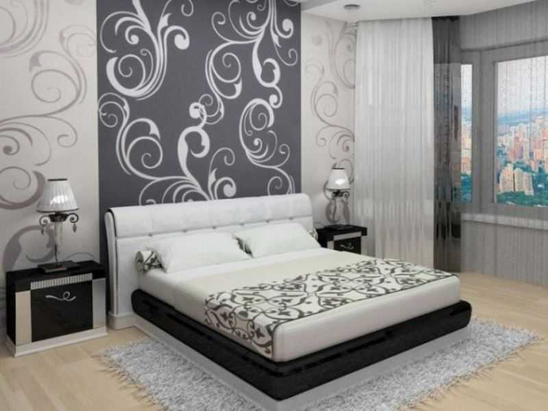 рисунок обоев в спальне