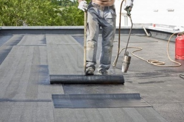 рубероид бетон