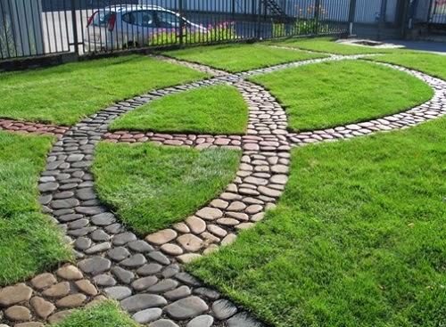 садовая дорожка булыжники