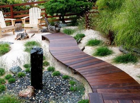 садовая дорожка из древесины 3