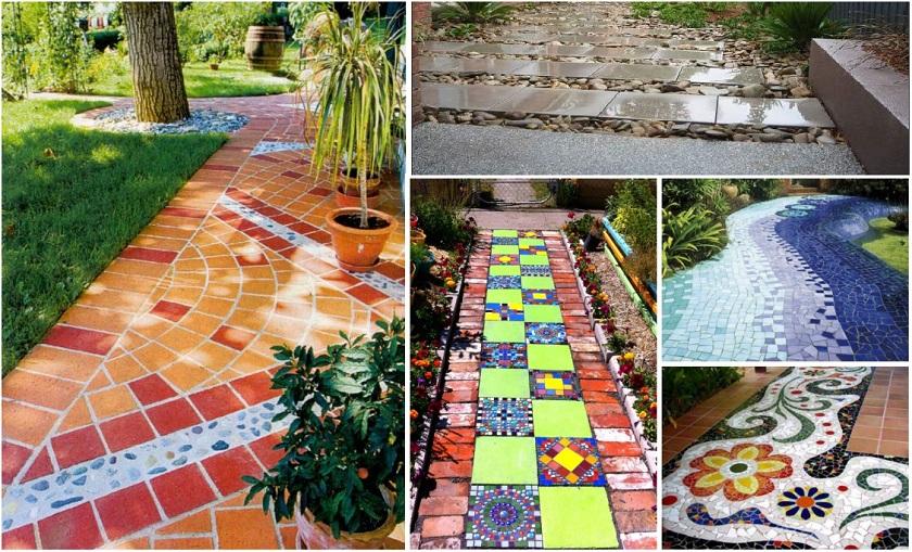 садовая дорожка из керамической плитки