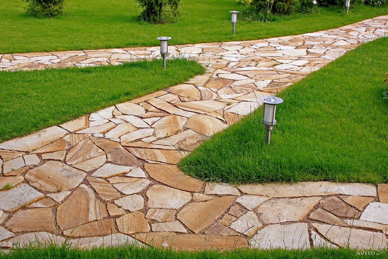садовая дорожка из натурального камня 2