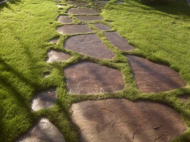 садовая дорожка из натурального камня 3