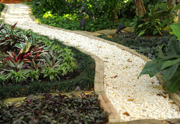 садовая дорожка насыпная