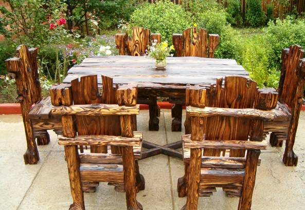садовая мебель дерево 2