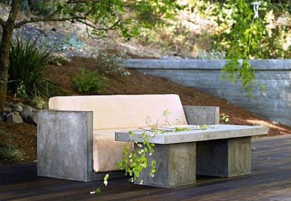 садовая мебель из бетона