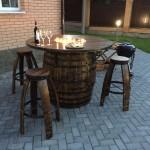 садовая мебель из бочки 2