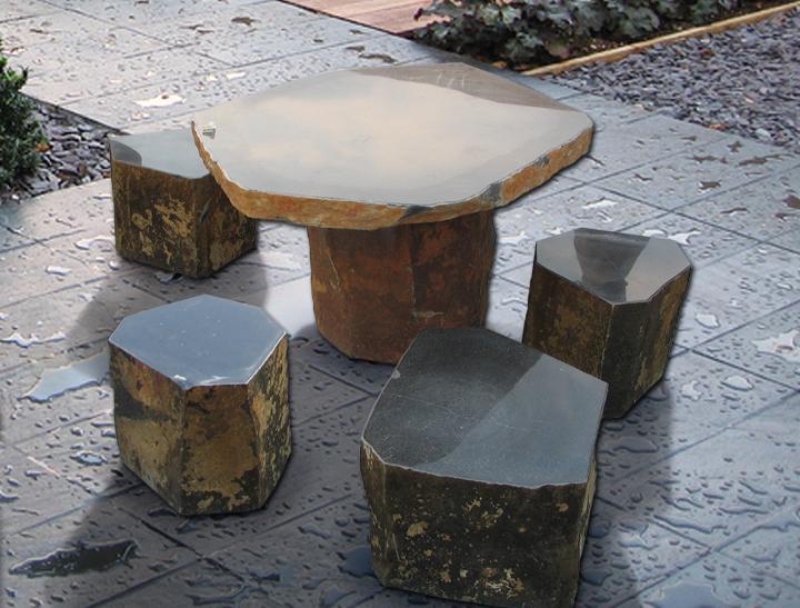 садовая мебель камень 2