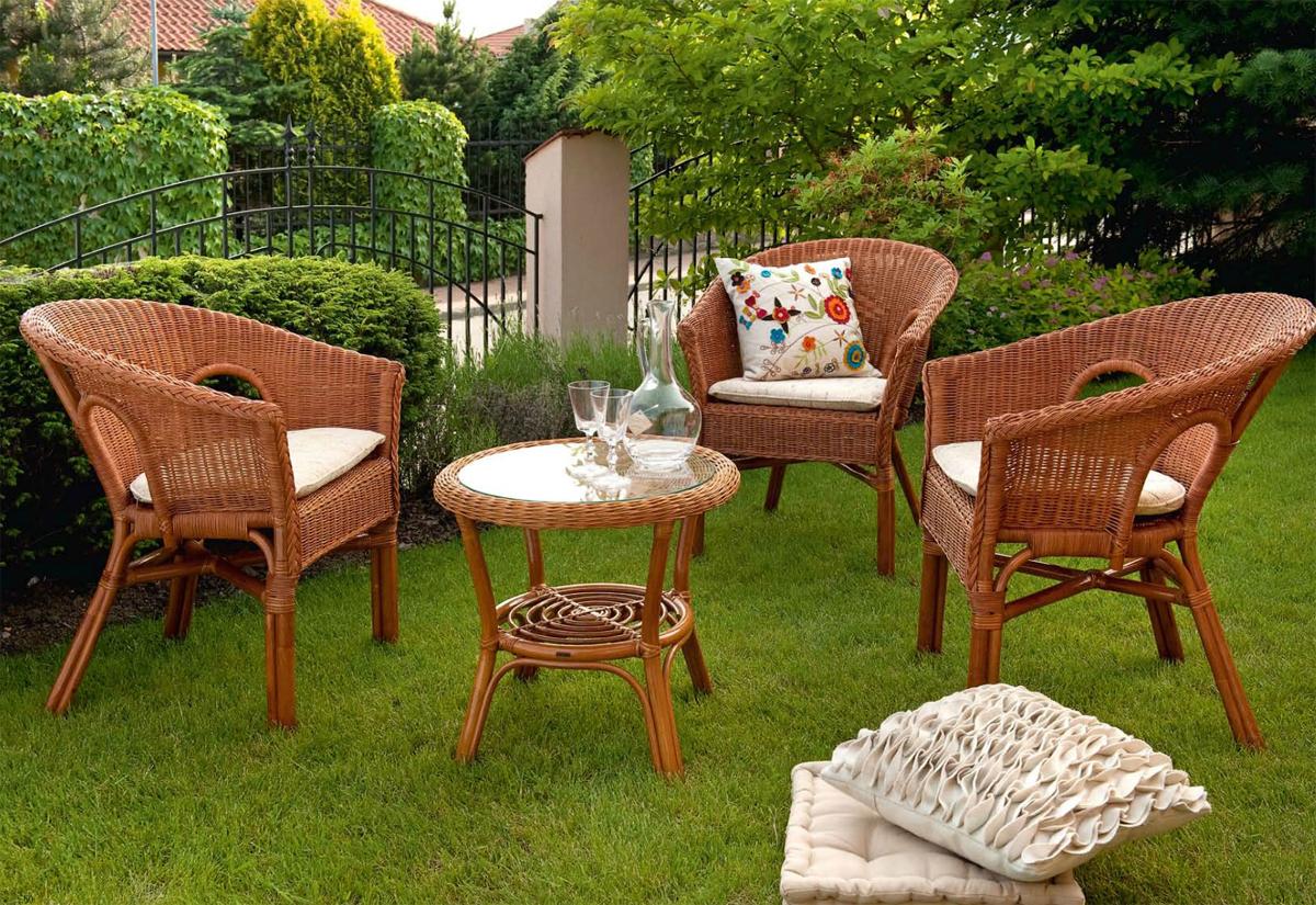 садовая мебель натуральный ротанг 2
