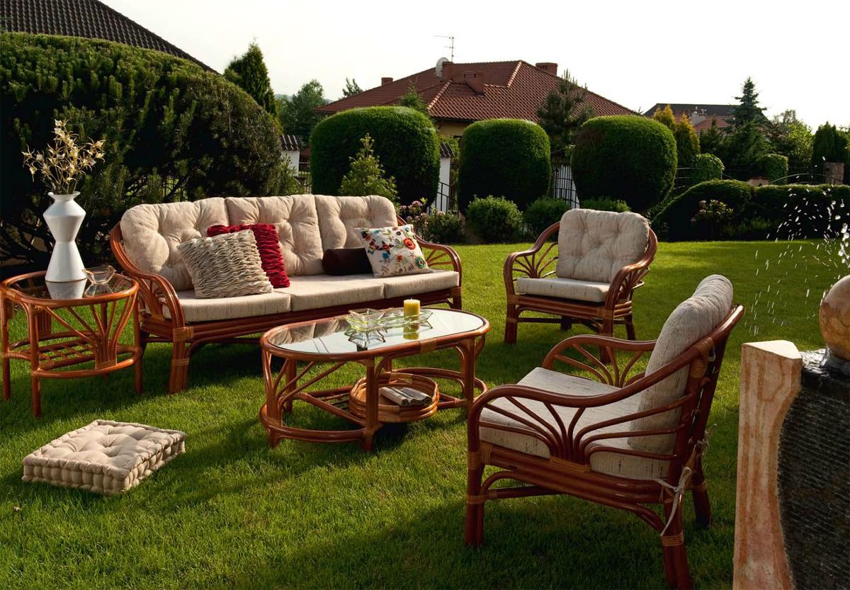 садовая мебель натуральный ротанг 3