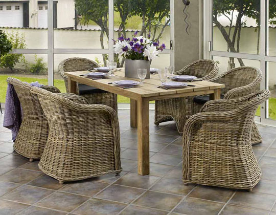 садовая мебель натуральный ротанг