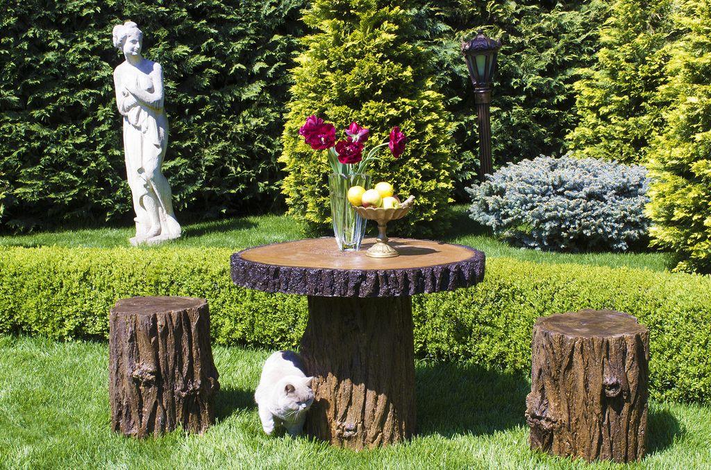 садовая мебель пень 2
