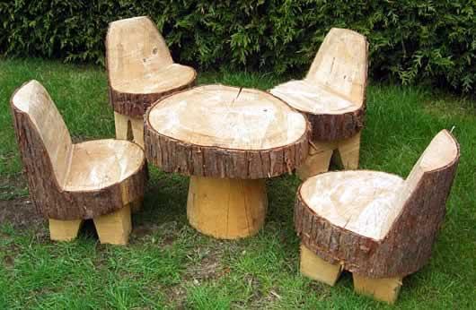 садовая мебель пень