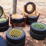 садовая мебель покрышки 2