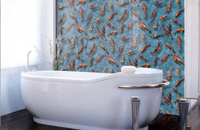 самоклеющаяся пленка для отделки стен ванной комнаты