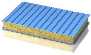 сэндвич панели с минеральной ватой