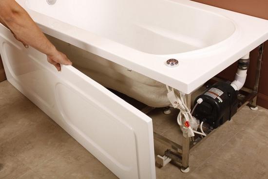 съемный нераздвижной экран под ванну