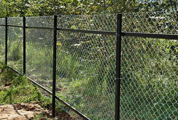 сетчатый забор для участка