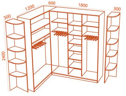 шкаф купе размеры 2